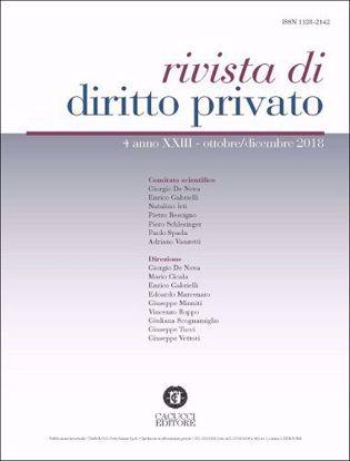 Immagine di Rivista di diritto privato - Anno XXIII, n.4