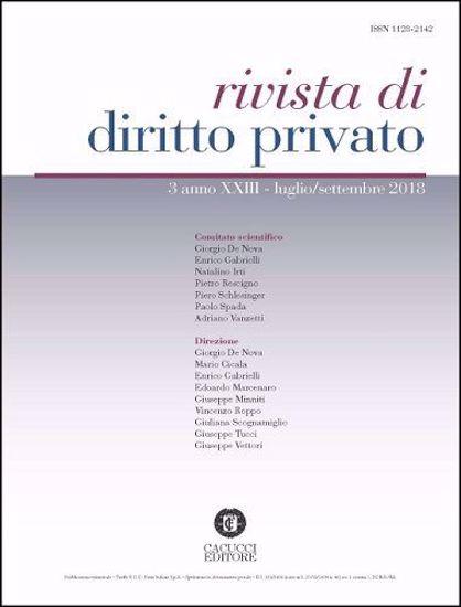 Immagine di Rivista di diritto privato -Anno XXIII, n.3