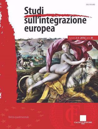 Immagine di Studi sull'integrazione europea - Anno XI, n.2-3