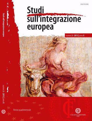 Immagine di Studi sull' integrazione europea - Anno X, n.3