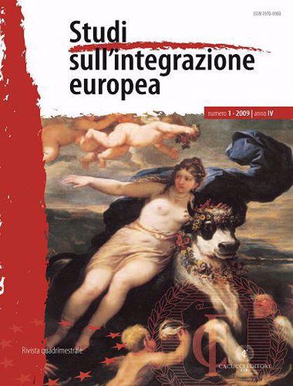 Immagine di Studi sull' integrazione europea - Anno  IV, n.1