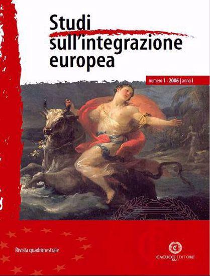 Immagine di Studi sull' integrazione europea - Anno  I, n.1