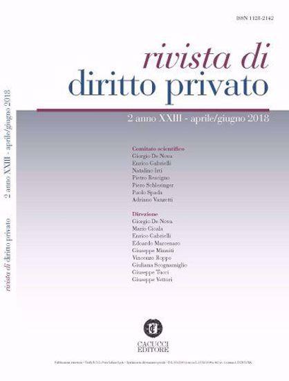 Immagine di Rivista di diritto privato -Anno XXIII, n.2