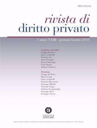 Immagine di Rivista di diritto privato -Anno XXIII, n.1