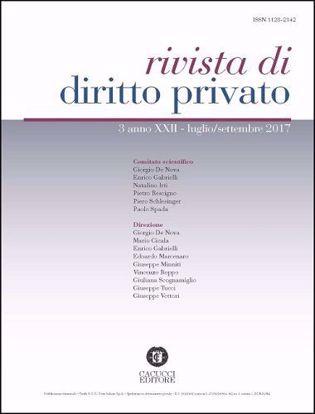 Immagine di Rivista di diritto privato -Anno XXII, n.3