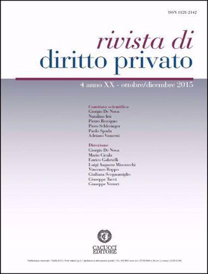 Immagine di Rivista di diritto privato -Anno XX, n.4