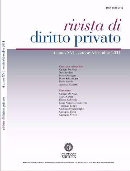 Immagine di Rivista di diritto privato - Anno XVI, n.4