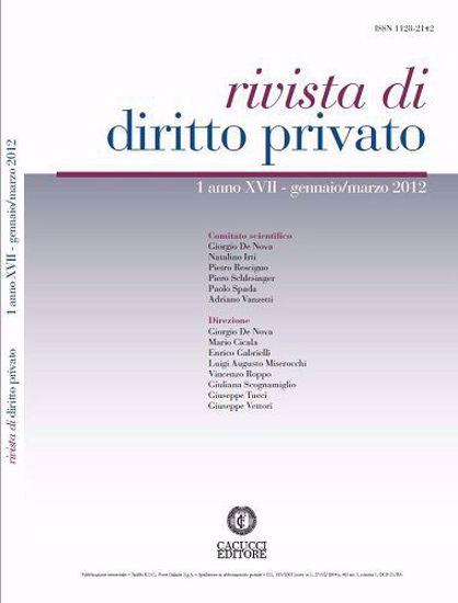 Immagine di Rivista di diritto privato - Anno XVII, n.1