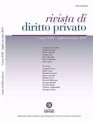 Immagine di Rivista di diritto privato -Anno XXIV, n.3 - luglio/settembre 2019