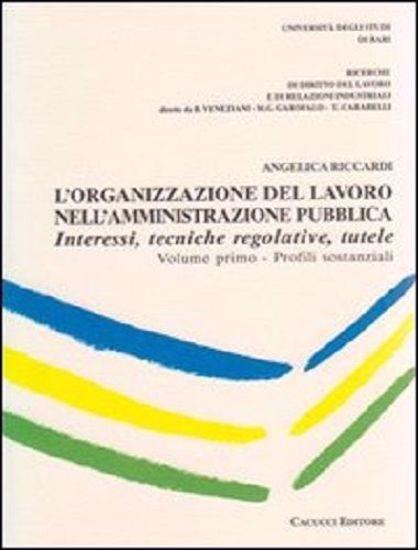 Immagine di L'organizzazione del lavoro nell'amministrazione pubblica.