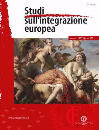 Immagine di Studi sull'integrazione europea - Anno XIV, n.3- settembre/dicembre 2019
