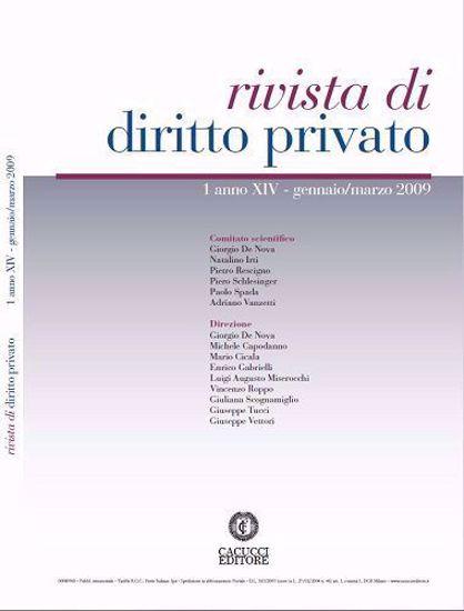 Immagine di Rivista di diritto privato - Anno XIV, n.1
