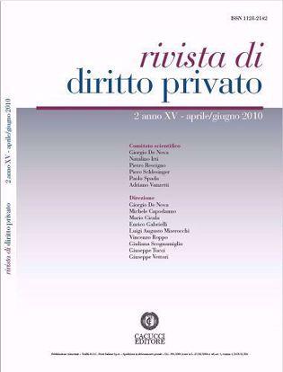 Immagine di Rivista di diritto privato - Anno XV, n.2