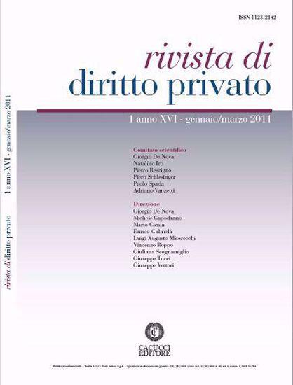 Immagine di Rivista di diritto privato - Anno XVI, n.1