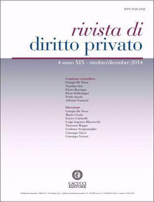 Immagine di Rivista di diritto privato -Anno XIX, n.4