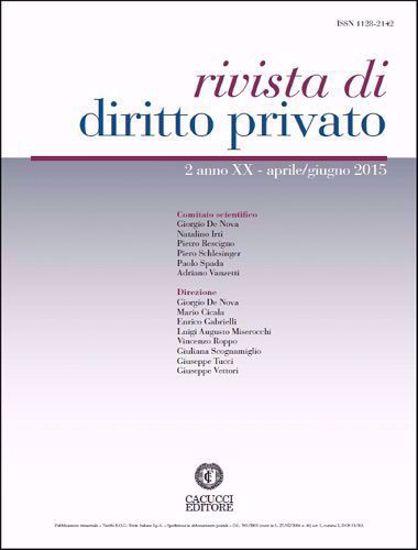Immagine di Rivista di diritto privato -Anno XX, n.2