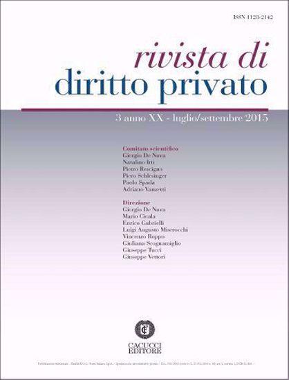 Immagine di Rivista di diritto privato -Anno XX, n.3