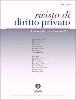 Immagine di Rivista di diritto privato -Anno XXI, n.1