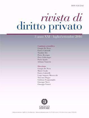 Immagine di Rivista di diritto privato -Anno XXI, n.3
