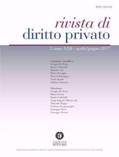 Immagine di Rivista di diritto privato -Anno XXII, n.2