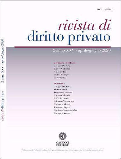 Immagine di Rivista di diritto privato - Anno XXV, n.2