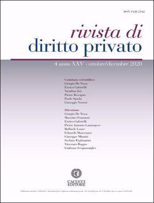 Immagine di Rivista di diritto privato - Anno XXV, n.4