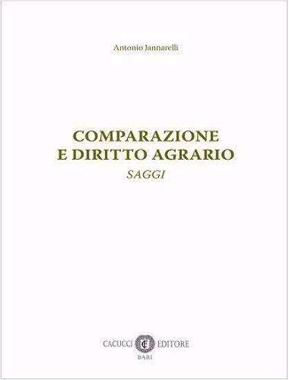 Immagine di Comparazione e diritto agrario