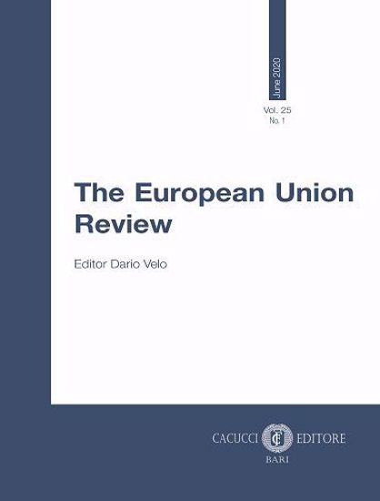 Immagine di The European Union Review - Vol. 25 No. 1