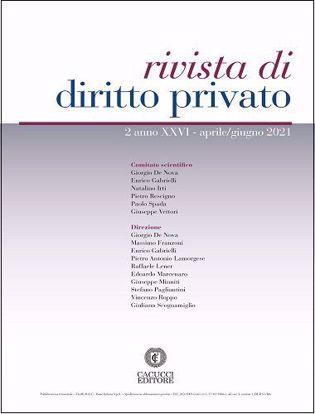 Immagine di Rivista di diritto privato -Anno XXVI, n.2 - aprile/giugno 2021